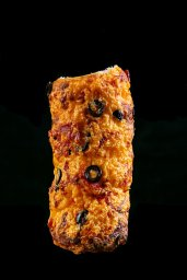 Chimney Pizza – with olives, venticina and cheddar cheese