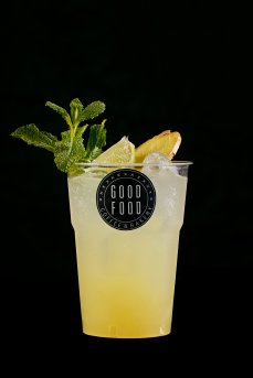 Homemade ginger lemonade with mint